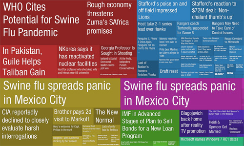 newsmap, swine flu