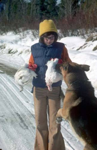 Sarah Palin as a youth, hunting