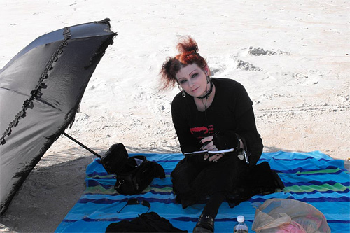 goths in hot weather