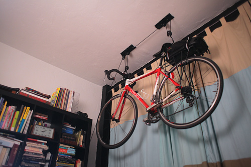 bike ceiling hang pulley