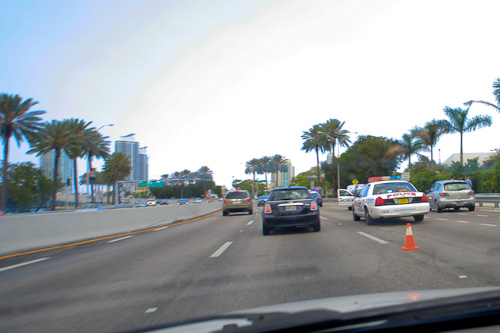 two bikes down on the macarthur causeway
